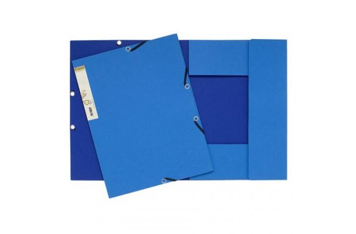 Cartelle 3 lembi forever® exacompta - esterno azzurro/interno blu scuro - 56982e