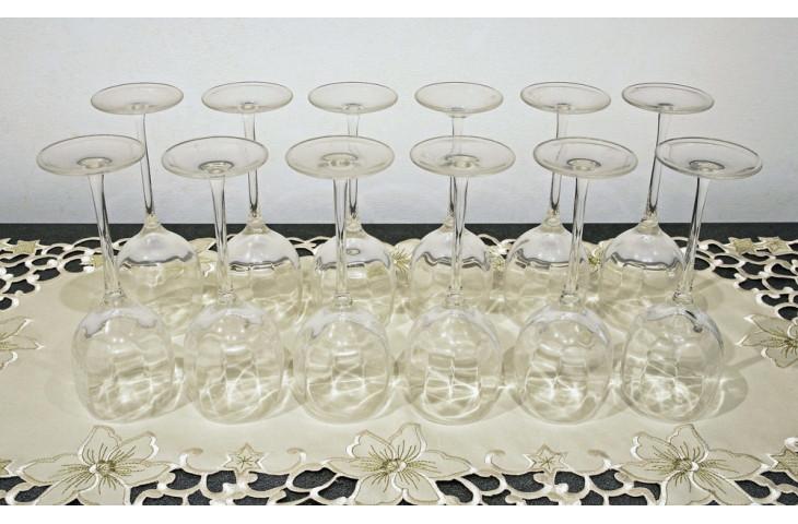 Servizio di bicchieri in cristallo di boemia