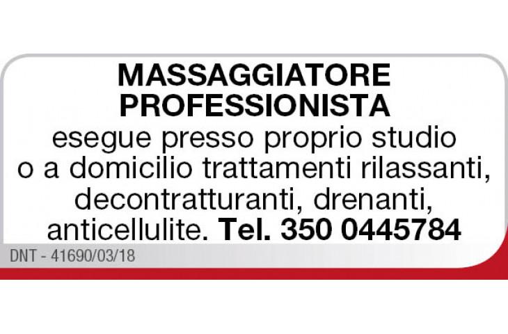 Massaggiatore professionista