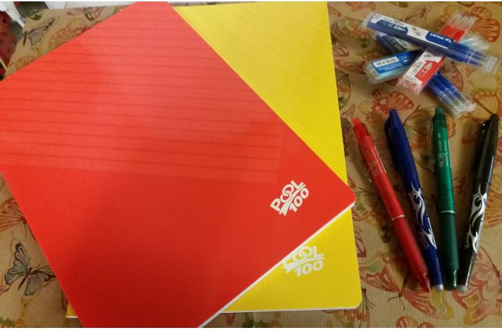 Quadernoni maxi 100 gr. penne frixion e refill