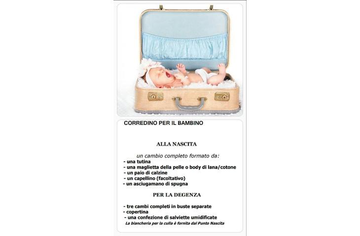 In valigia per la mamma e per il bebe'