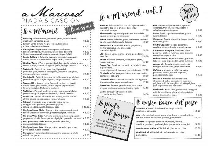 Ecco il nostro nuovo menu!