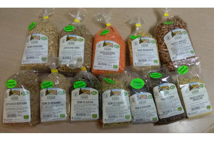 Legumi e semi oleosi certificati senza glutine