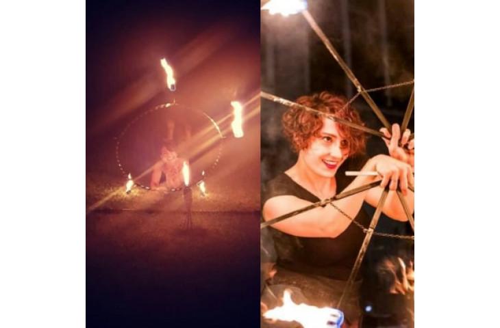 Venerdi 19 luglio cena con lo spettacolare esibizione di rebelle e marte' manipolatrici del fuoco